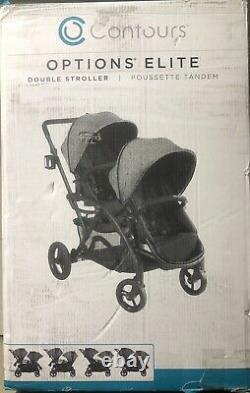 Contours Options Elite Twin Tandem Double Baby Poussette Carbone Nouveau 2019