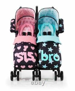 Cosatto Supa Dupa Twin Double Poussette, Sis Et Bro 5 Design