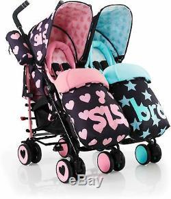 Cosatto Supa Dupa Twin Stroller Sis & Bro 5 Poussette / Landau