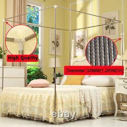 Coupe-vent Lightproof Anti-glare 4 Four Corner Bed Rideau Canopy Moustiquaire