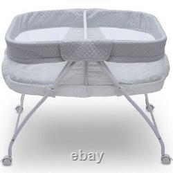 Deux Jumeaux Bébé Compact Double Berceau Berceau Berceau Playpen Bedside Bed Side Child