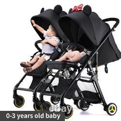 Deux Poussettes De Bébé Légère Pliante Portative Baby Carriage Double Siège Chariots