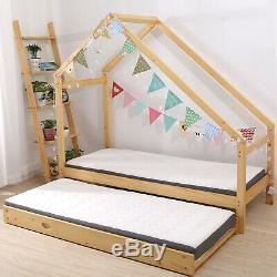 Double Enfants De Chaussée Lit Enfant Cadre Bois Enfants Premium Lit Simple Chambre Coffre-fort