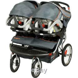 Double Poussette De Jogging Twins Baby Jogger Porteur Mp3 Haut-parleurs Tout-petits Enfants Panier