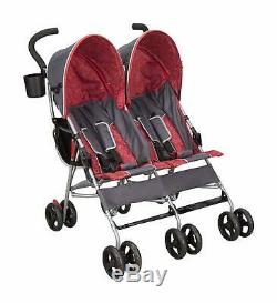 Double Poussette Parapluie Rouge Pour Les Jumeaux Carriola Para Bebe Doble Cosas De Bebe