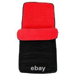 Double Red Twin Poussette Pram Poussette Buggy Inc Raincover - Footmuffs