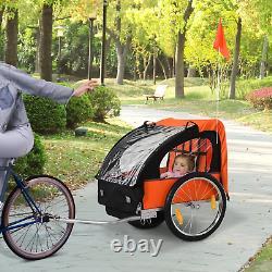 Double Remorque De Vélo Enfants Twins Poussette De Vélo Jogger Enfant Buggy Carrier Pli