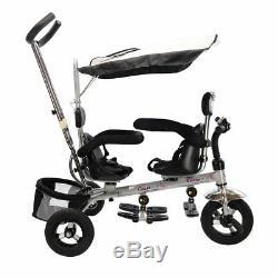 Double Rotatab De Sécurité De Bébé De Tricycle De Bébé De Tricycle De Costzon 4 En 1 Jumeaux
