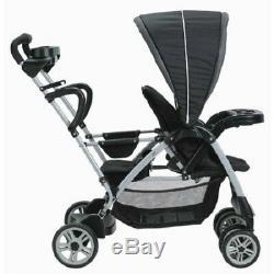 Double Stand Poussette Voiture Panier 2 Deux Enfants Infant Toddler Tour Jumeau Noir