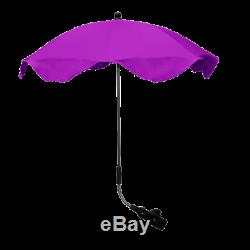 Double Twin Violet Poussette Buggy Inc Chancelières Sac 2 Parasol Et Raincover