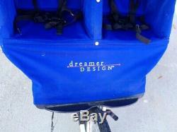 Dreamer Design Fitness First Double / Double Jogger Poussette De Jogging