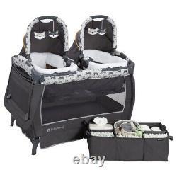 Elite Twins Double Poussette Frame Avec 2 Sièges Auto Baby Combo Nursery Center Sac