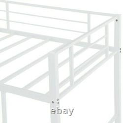 Enfants Twin Size Bunk Bed White Slide Loft Enfant Bedroom Meubles Playhouse Zone De Jeu