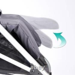Evenflo Minno Twin Poussette Double Légère, Grise Et Noire