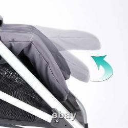 Evenflo Minno Twin Poussette Double Poids Léger Surdimensionnée Canopy Gray Et Noir