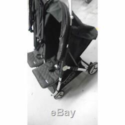 Ex Display Babystyle Oyster Double Bébé Poussette Poussette Buggy Gris Tungstène