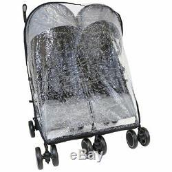 Filles Garçons Gris Twin Double Poussette Buggy Pram Inc Sac Chancelières & Raincover