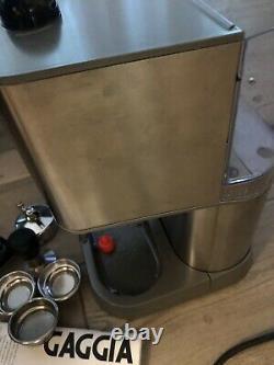 Gaggia Baby Twin Home Espresso Machine Single Double Café Brossé Inoxydable