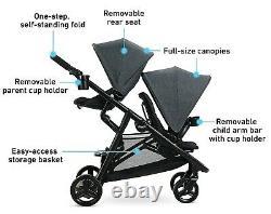 Graco Baby Ready2grow 2.0 Pli D'un Pas Twin Double Poussette Rafa Nouveau