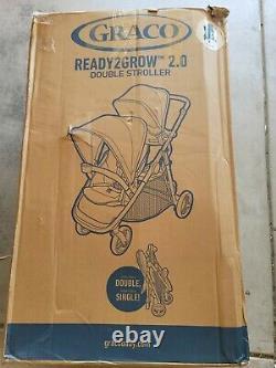 Graco Baby Ready2grow 2.0 Plier Une Étape Double Poussette Rafa Nouveau