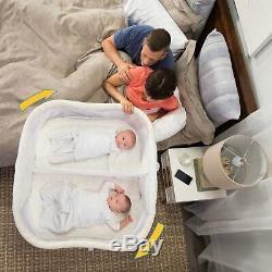 Halo Lit De Bébé Bassinest Twin Sleeper Double Bassinet Pour Bébé Dans Sand Circle