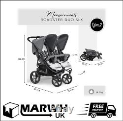 Hauck Roadster Duo Slx Side By Side Double Pushchair Buggy Easy Folding