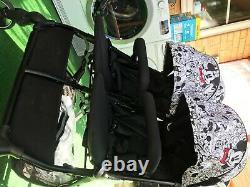 Hauck Swift X Duo Super Light Twin Double Buggy Pushchair Pram Black Avec Des Extras