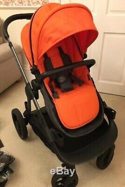 Icandy Orange Double Buggy Pram Poussette Y Compris Les Adaptateurs De Voiture (double)