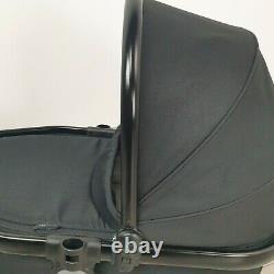 Icandy Peach 3 2 1 Jet Black Jumeau / Nacelle Inférieure Pour Le Landau À Fleurs Doubles