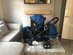 Icandy Peach 3 Bleu Cobalt Hey Double / Blossom Seat Et Assortis Cot