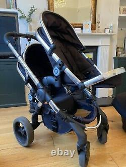 Icandy Peach Blossom Twin Pram, Carrycots & Maxi Cosi Sièges D'auto