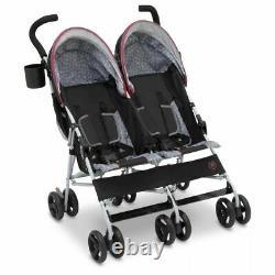 Jeep Scout Double Poussette Baby Pram Pour Twins 2 Babies Double Baldaquin Arrière