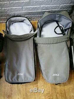 Joolz Geo Duo Double Lits Jumeaux Landau Poussette 2 Places 2 Nacelles