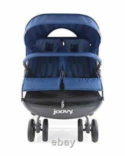 Joovy Double Poussette Scooter X2 Twins Grand Panier De Rangement Blueberry 8070 Nouveau