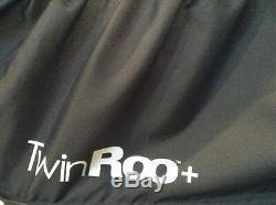 Joovy Double Roo + Black Standard Double Carseat Poussette