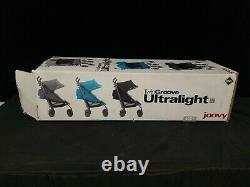 Joovy Ultralight Umbrella Poussette Twin Groove Couleur Gris Nouvelle Open Box