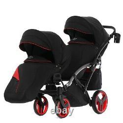 Junama Diamond S Line Duo Slim Exclusive Double Baby Stroller Twin Pram 2in1