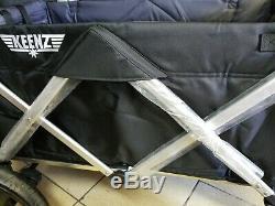 Keenz 7s Double Baby Wagon Poussette Double Easy Fold W Canopy Lire Description