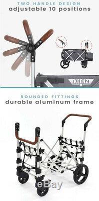 Keenz 7s Double Bébé Poussette Double Wagon Facile Fold W Canopy Et Sac Bleu Nouveau