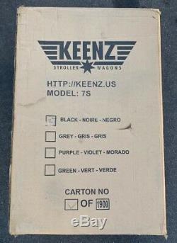 Keenz 7s Double Bébé Poussette Double Wagon Facile Fold Withcanopy Et Sac Noir Voir Pict