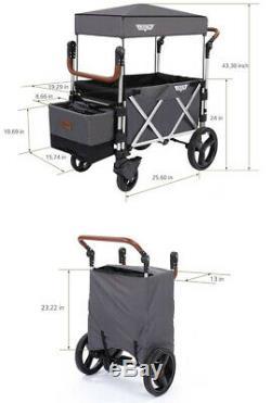 Keenz 7s Twin Baby Poussette Double Wagon Easy Fold Avec Auvent Et Sac Violet