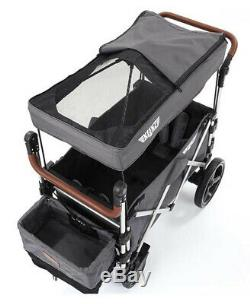 Keenz 7s Twin Baby Poussette Double Wagon Easy Fold W Canopy Et Sac Gris Nouveau
