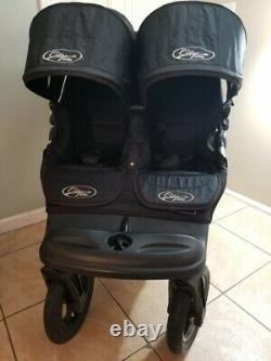 Le Baby Jogger City Elite Twin Double Siège Poussette Côte À Côte, Noir