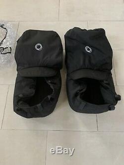 Légèrement Occasion Bugaboo Âne Twin Double Bassinet Convertible Poussette Noir
