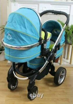 Lovely Icandy Peach Blossom Twin Double Complete Travel Package Inc Carrycots
