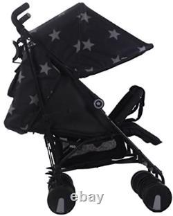 Ma Poussette Jumelle Babiie Mb22 Black Stars