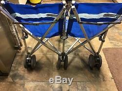 Maclaren Major Elite Twin / Double Bleu Mobility Buggy Tailles De Siège