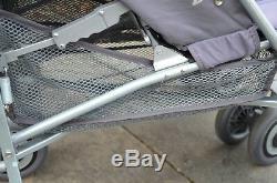 Maclaren Poussette Double Triumph Umbrella Gris Techno Buggy Gris