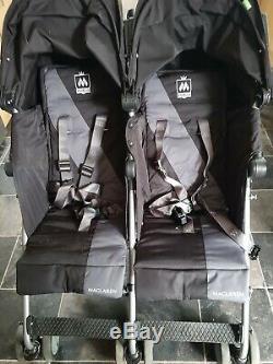 Maclaren Twin Techno Argent Gris / Charbon Double Standard Poussette Seat