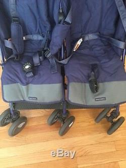 Maclaren Twin Techno Double Poussette, Excellent État Avec Pack D'accessoires